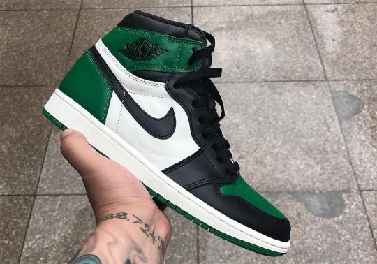 "First Look At The Air Jordan 1 Retro High OG ""Pine Green"""