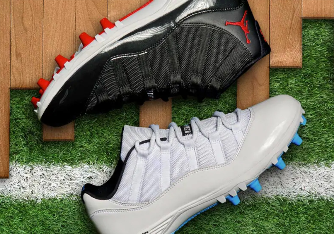 "9d2d8e6e8 Air Jordan 11 ""Bred"" And ""Columbia"" Return In Cleat Form"