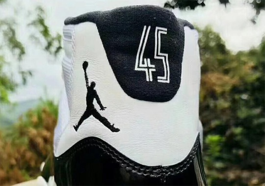 "Another Look At The Air Jordan 11 ""Concord"" With '45'"