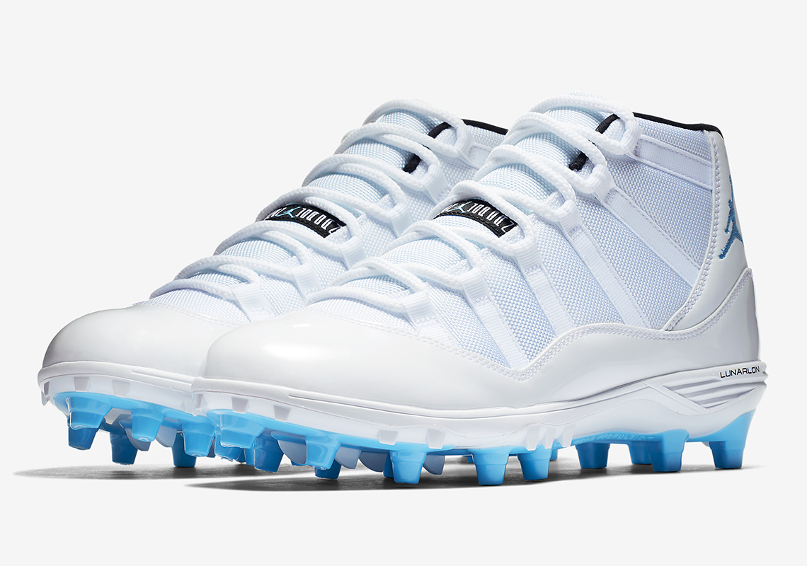 3eb2ad278260 Take a look at all four Jordan 11 football cleat options below and head over  to Nikestore to grab your favorite pair today.