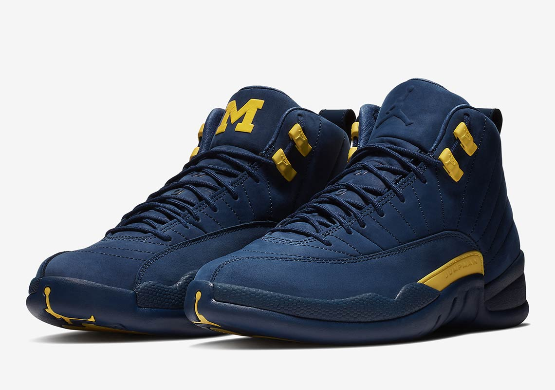 "Official Images of The Air Jordan 12 ""Michigan"""