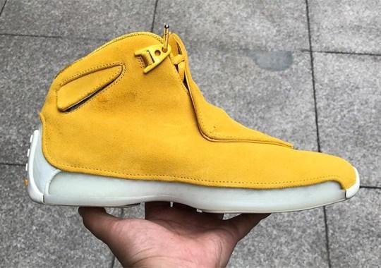 Air Jordan 18 Retro Coming In Yellow Suede