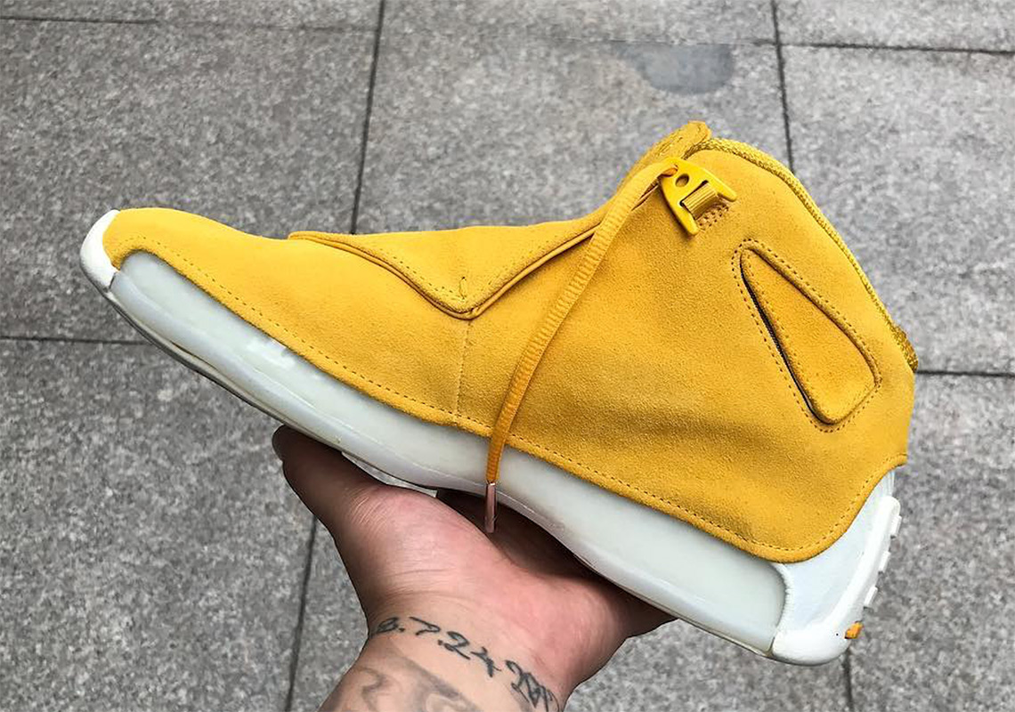 best authentic 0137e cb65a Air Jordan 18 Yellow Suede First Look   SneakerNews.com