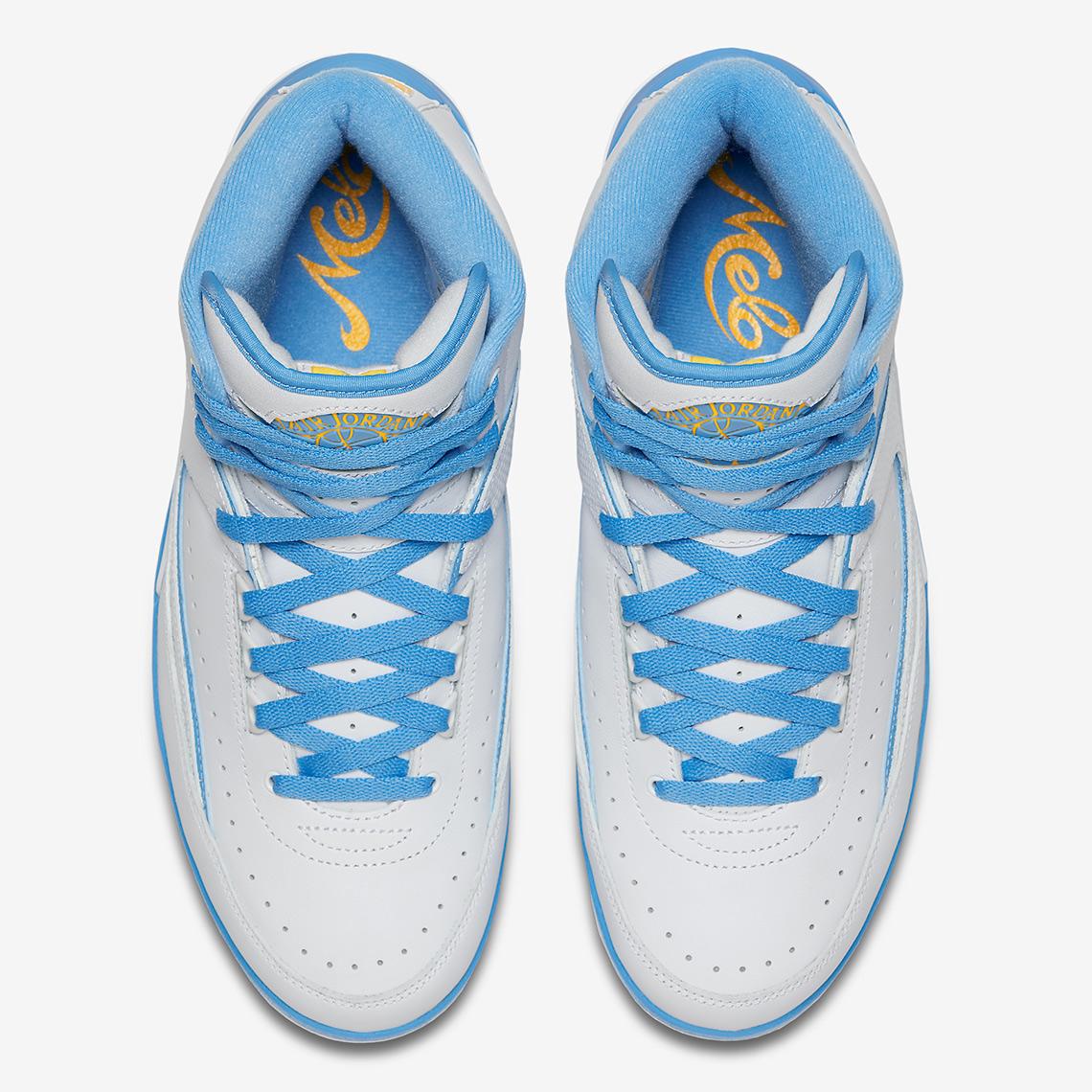 9f58e756f63ef8 ... White Varsity Maize University Blue 385475-122 Air Jordan 2 Melo  Release Date June 9th