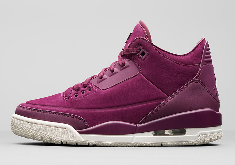 finest selection 455b9 23e30 Air Jordan 3 Bordeaux Womens AH7859-600 Release Info ...