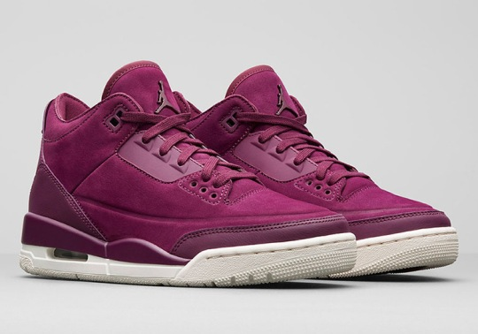 "Air Jordan 3 Retro Set To Release In ""Bordeaux"" For Women"