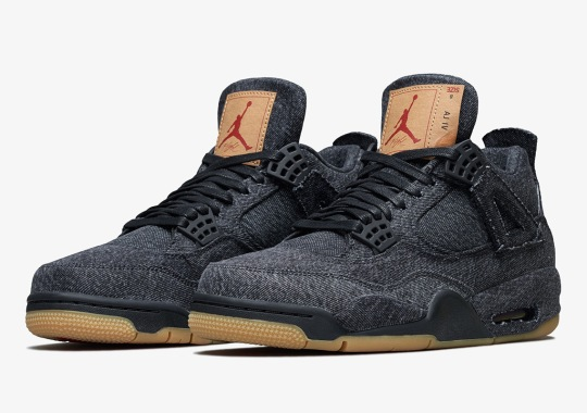 Official Images Of The Levi's x Air Jordan 4 In Black