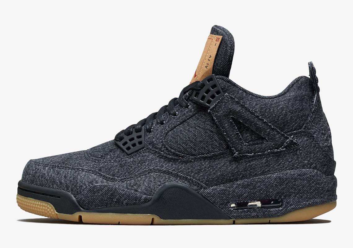 Levi's x Air Jordan 4 Black AO2571 001 Official Images