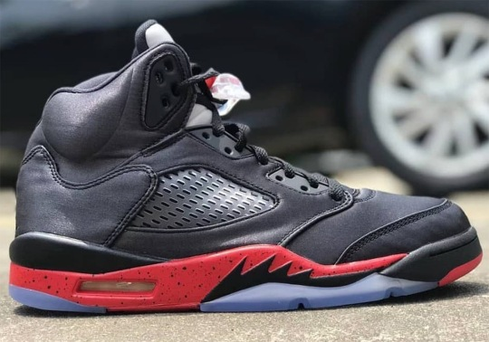"The Air Jordan 5 ""Bred"" Features Satin Uppers"