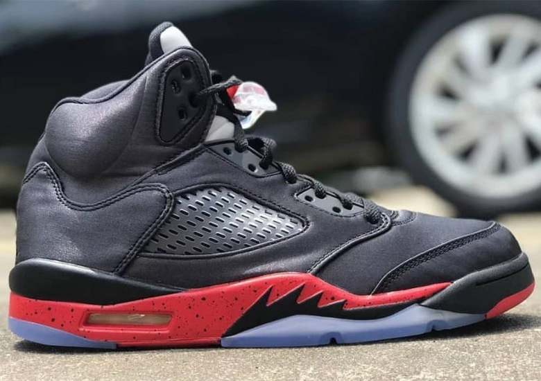 "reputable site 37f71 a64bd The Air Jordan 5 ""Bred"" Features Satin Uppers"