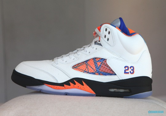 "Air Jordan 5 ""International Flight"" Inspired By Exhibition Game In Barcelona"