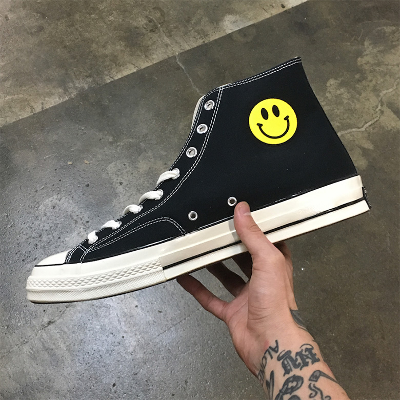 LeBron James Custom Smiley Face Chuck Taylors | SneakerNews.com