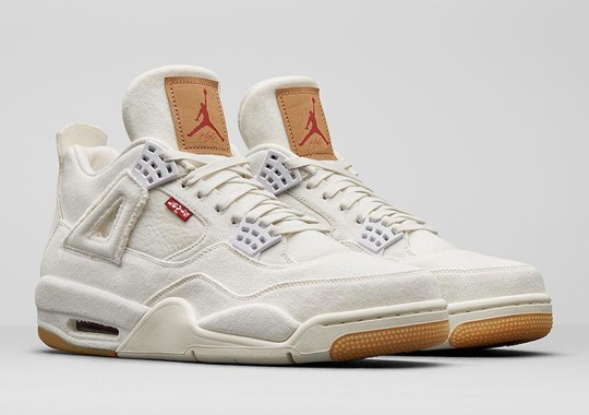 The Levi's x Air Jordan 4 Is Releasing In White And Black For Adults And Kids