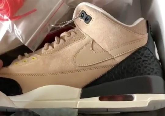 """Justin Timberlake Reveals Upcoming Air Jordan 3 Retro """"Bio Beige"""""""