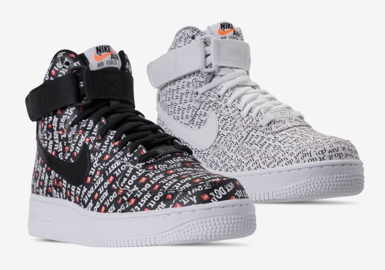 """Nike Air Force 1 High """"Just Do It"""" Pack Releases On June 28th"""