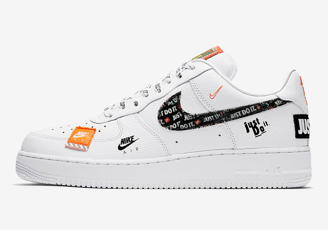 Nike Air Force 1 07 Just Do It Pack White : Release date