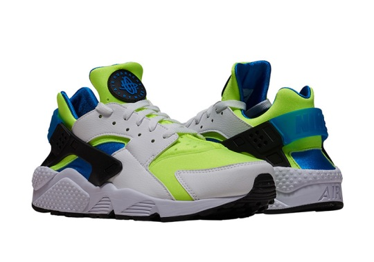 "Nike Remixes ""Scream Green"" On The Air Huarache"