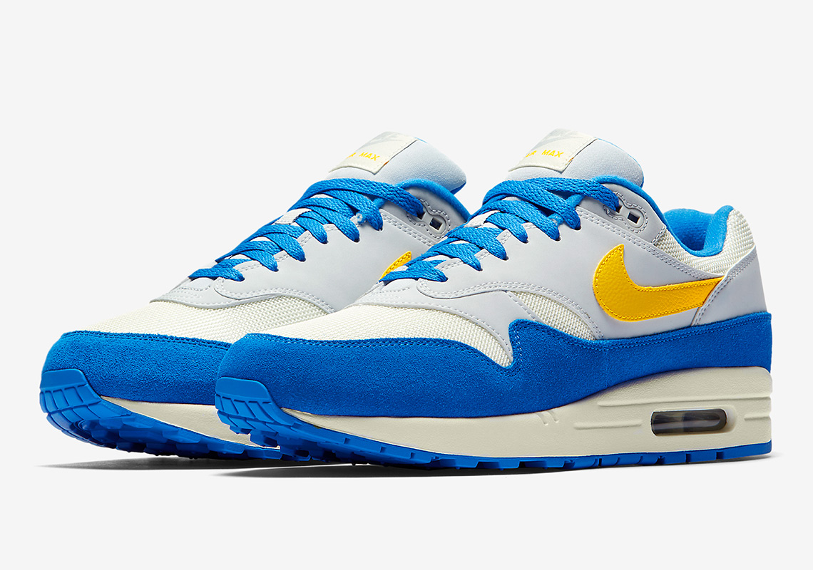 308120fc7ba1 Nike Air Max 1 Blue Yellow AH8145-108 Release Info