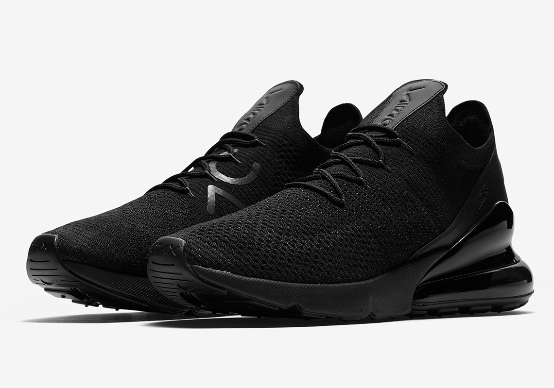 "100% authentic e15de 93b55 The Nike Air Max 270 Flyknit Is Coming Soon In ""Triple Black"""