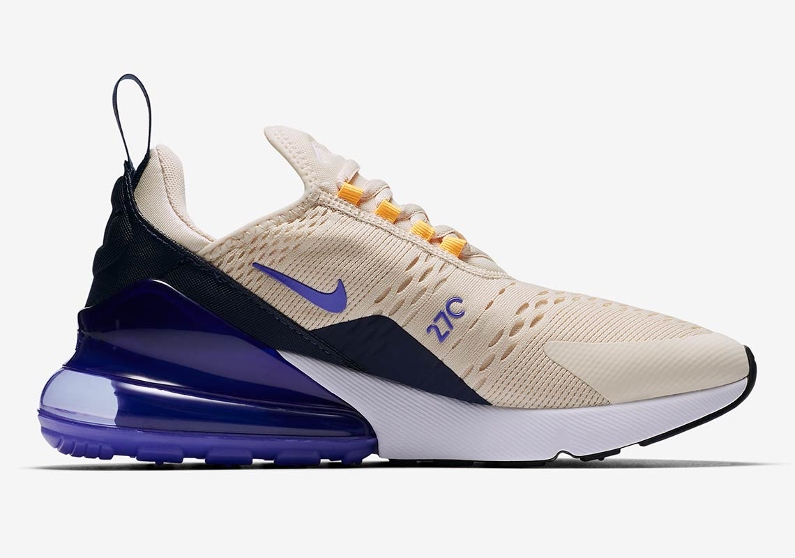 finest selection 23c3c def10 Nike Air Max 270 Wmns AVAILABLE AT Nike 150. Color Light CreamMidnight  NavyLaser OrangePersian Violet