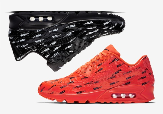 Nike Adds All Over Logos To The Air Max 90