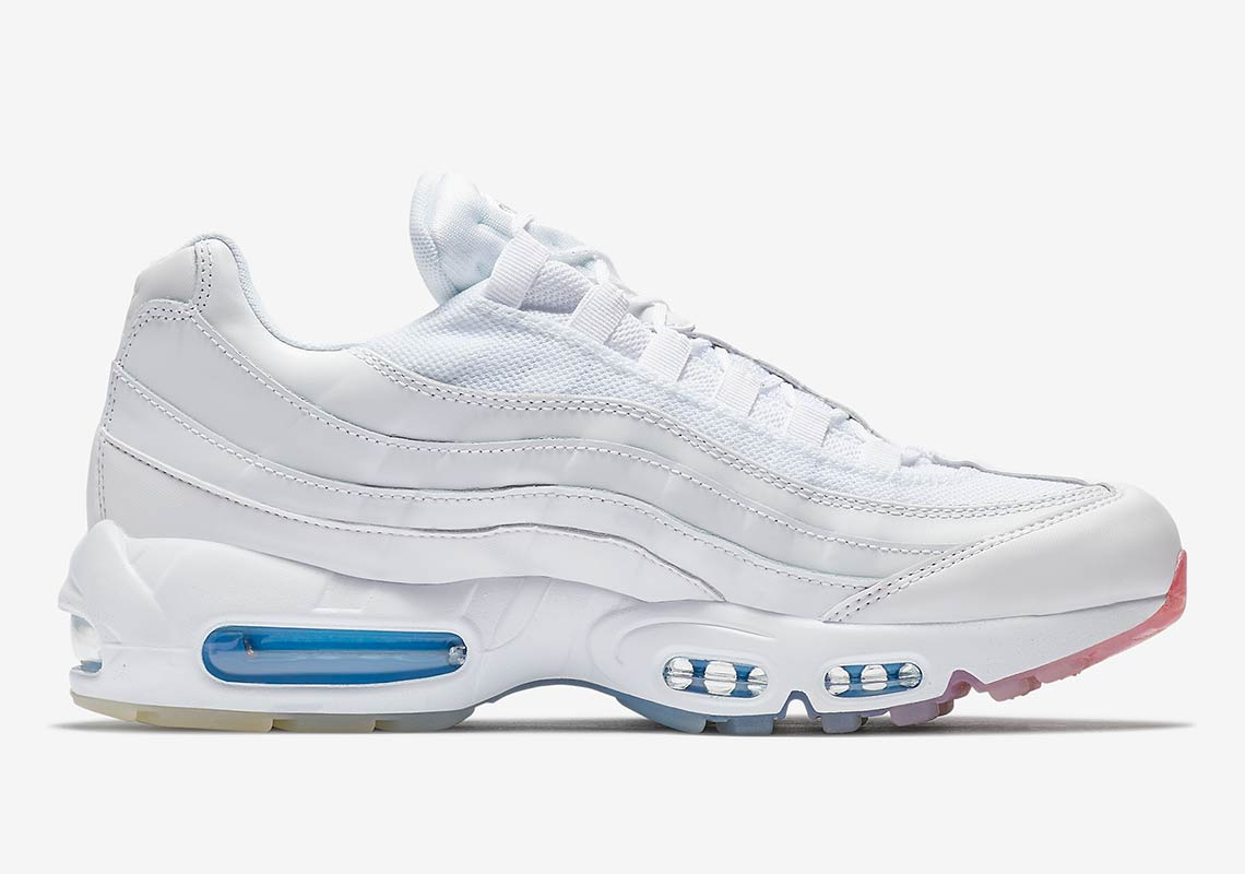 This White Air Max 95 Features A Colorful Twist