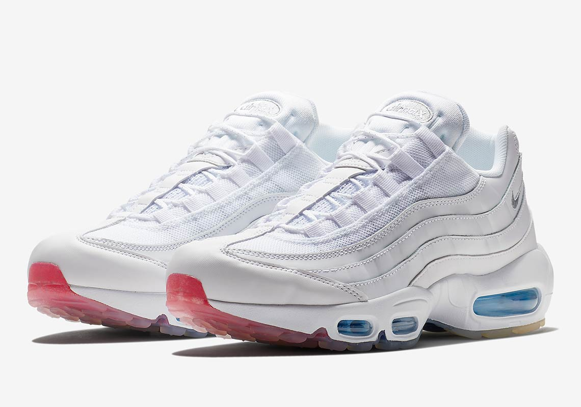 brand new 2d0e3 6ca42 This White Air Max 95 Features A Colorful Twist ...