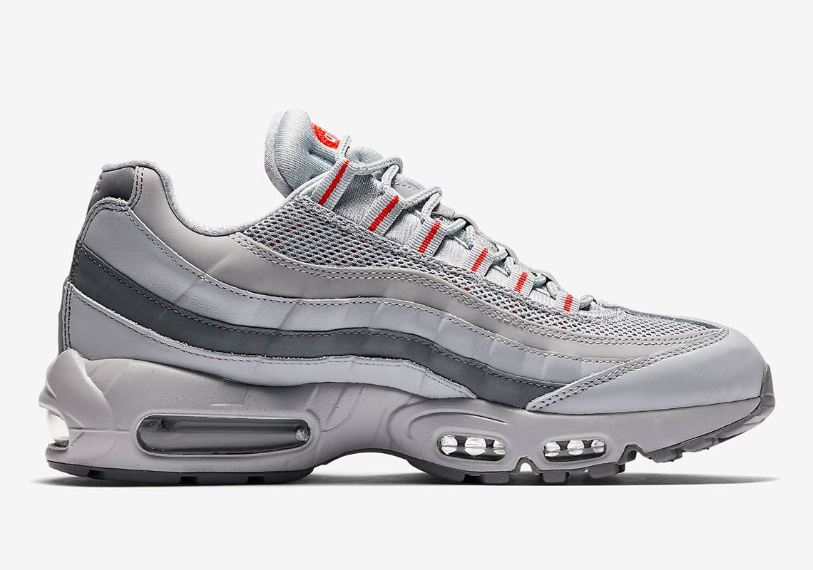 air max 95 silver and red
