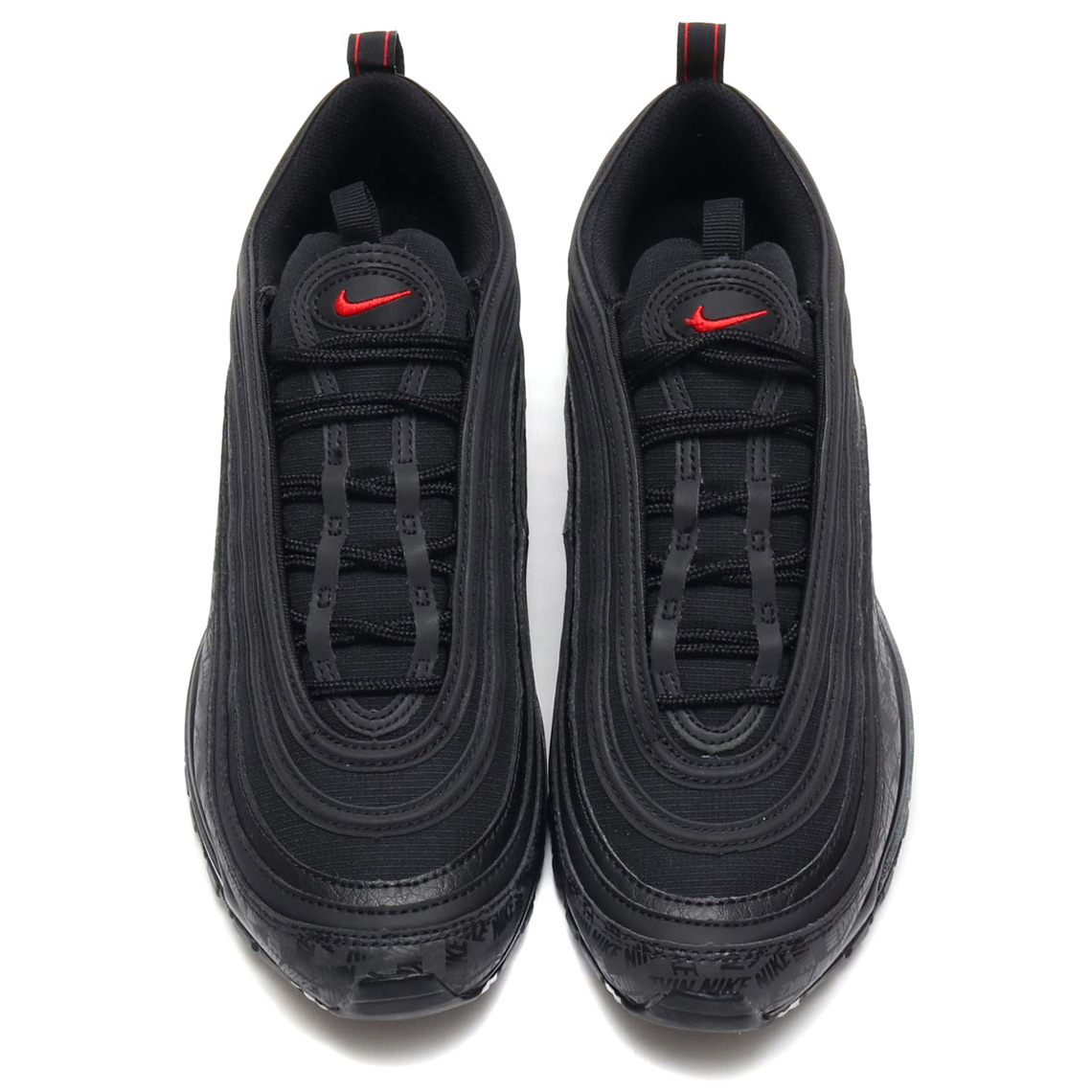 nike air max 97 reflective trainer black / university red