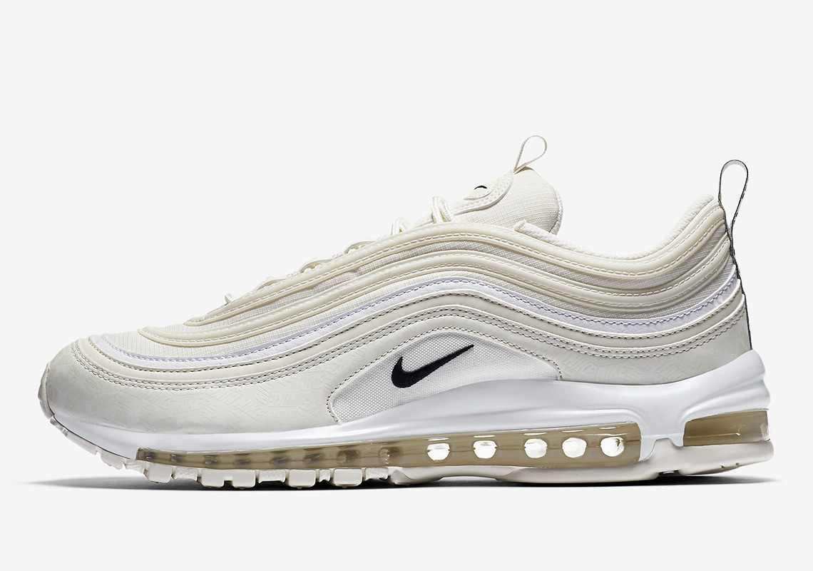new product ae040 4ab77 air max 97 or blanc