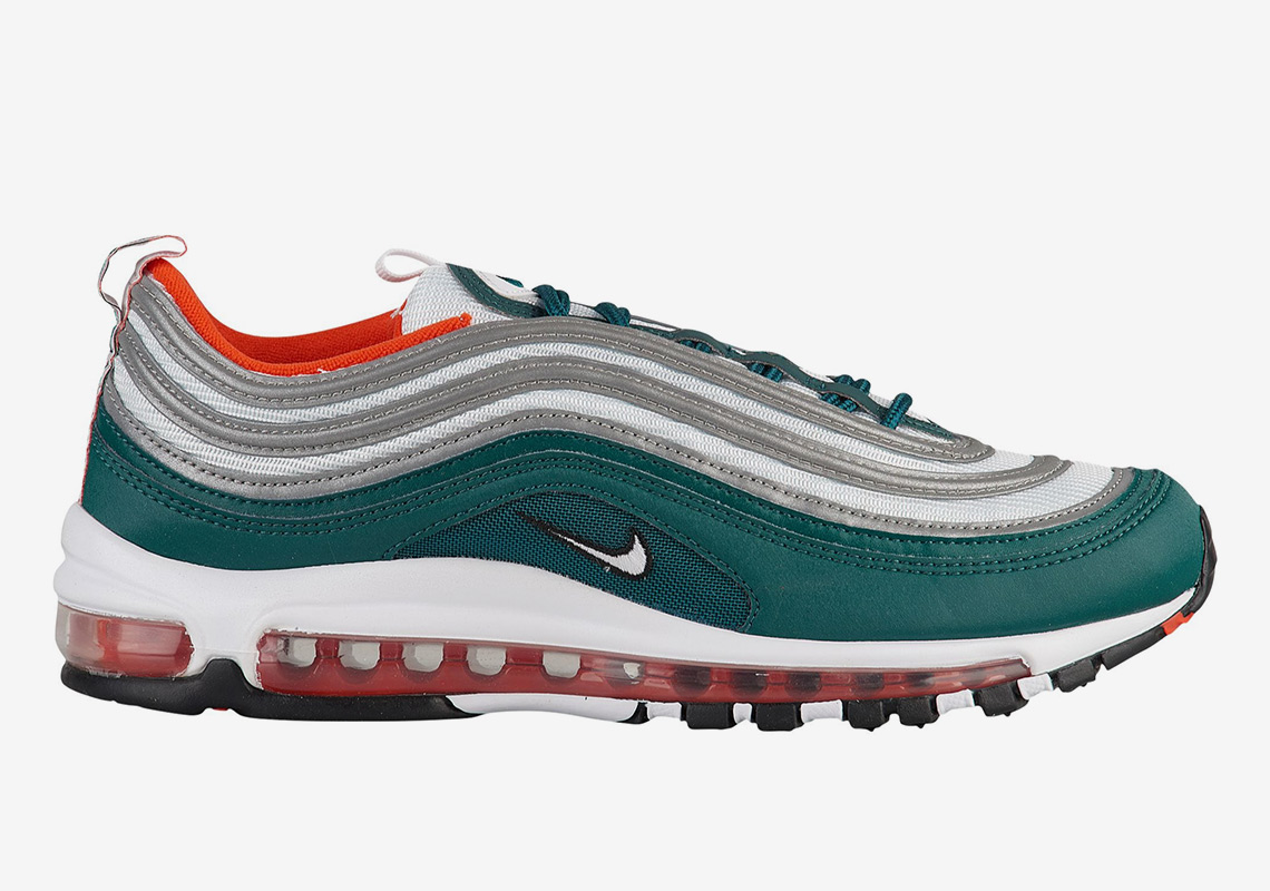 be27c41052 Nike Air Max 97 Teal Orange Miami Dolphins | SneakerNews.com