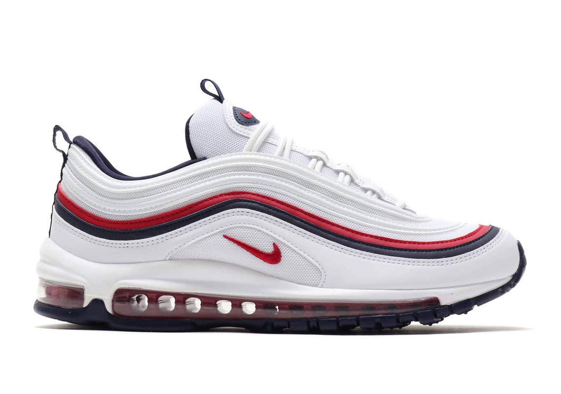 Nike Air Max 97 Red Crush USA White Blue 921733 102 Women's Size 7