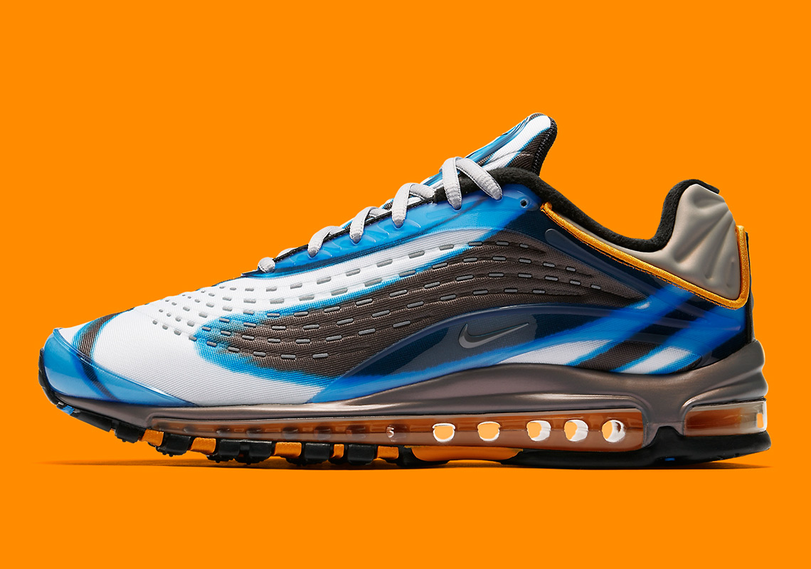 c3c97a57d06 Nike Air Max Deluxe AJ7831-401 Photo Blue Wolf Grey Orange Peel ...