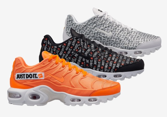 """The Nike Air Max Plus Joins The """"Just Do It"""" Pack"""