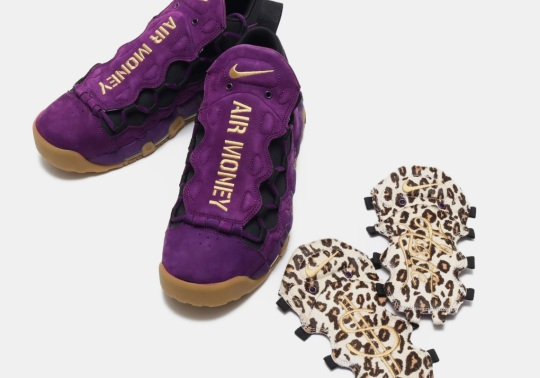 This Nike Air More Money Features Leopard Print