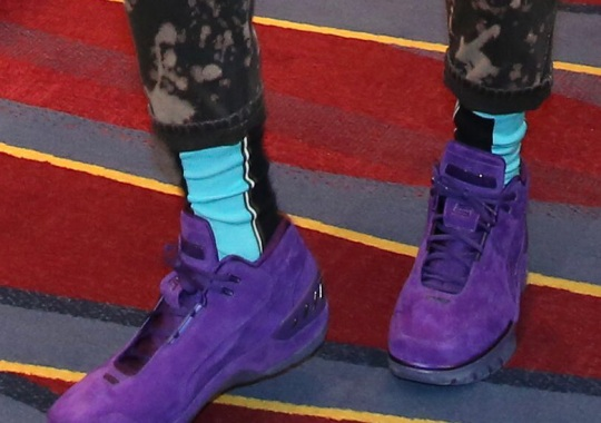 LeBron James' Purple Nike Air Zoom Generation Are Literally Fire Proof