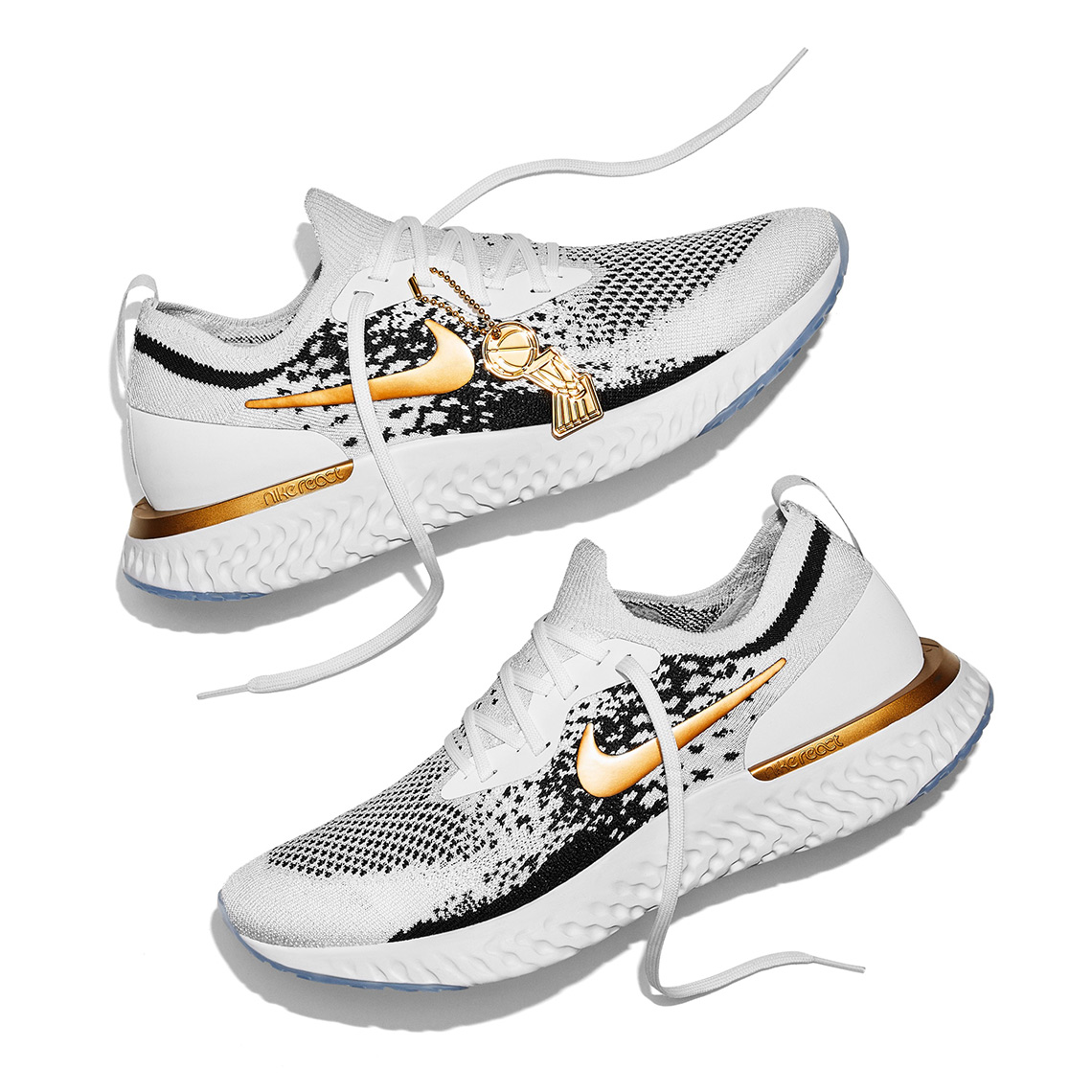 new arrival eaeac 58015 Nike Epic React Flyknit NBA Champions Golden State Warriors ...