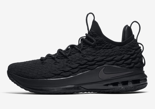 "new style 3b58c 7020e The Nike LeBron 15 Low Is Arriving In A ""Blackout"" Colorway"