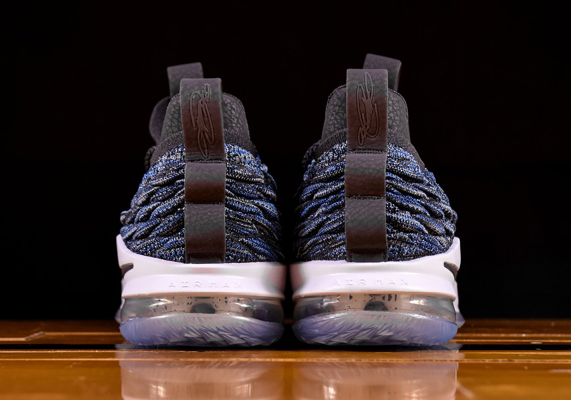 2bf5896a8cc Nike LeBron 15 Low  150. Color  Signal Blue Thunder Grey Black