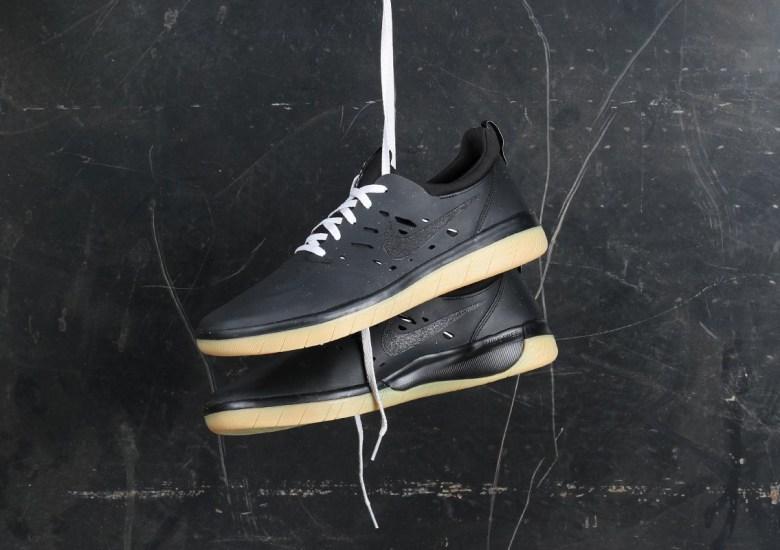461b0e0d94cdd Nyjah Huston s Nike Signature Shoe Drops In Black And Gum