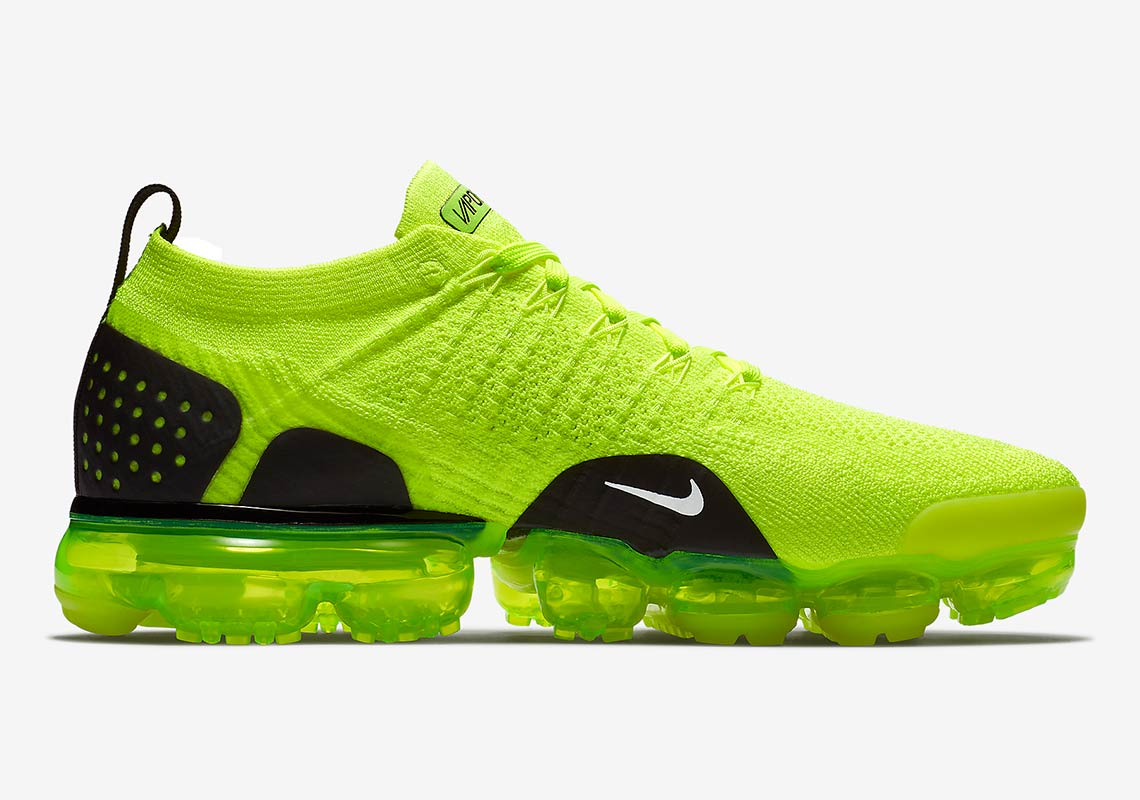 13df1363c9cf Nike Vapormax Flyknit 2.0 Volt 942842-700 Release Date