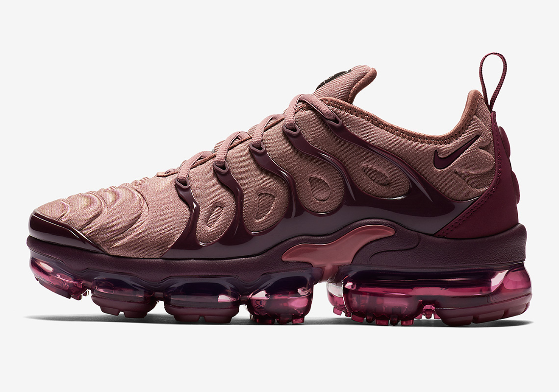 4ea1c366cfc The Nike Vapormax Plus Returns In A Sultry Blend Of Burgundy Tones