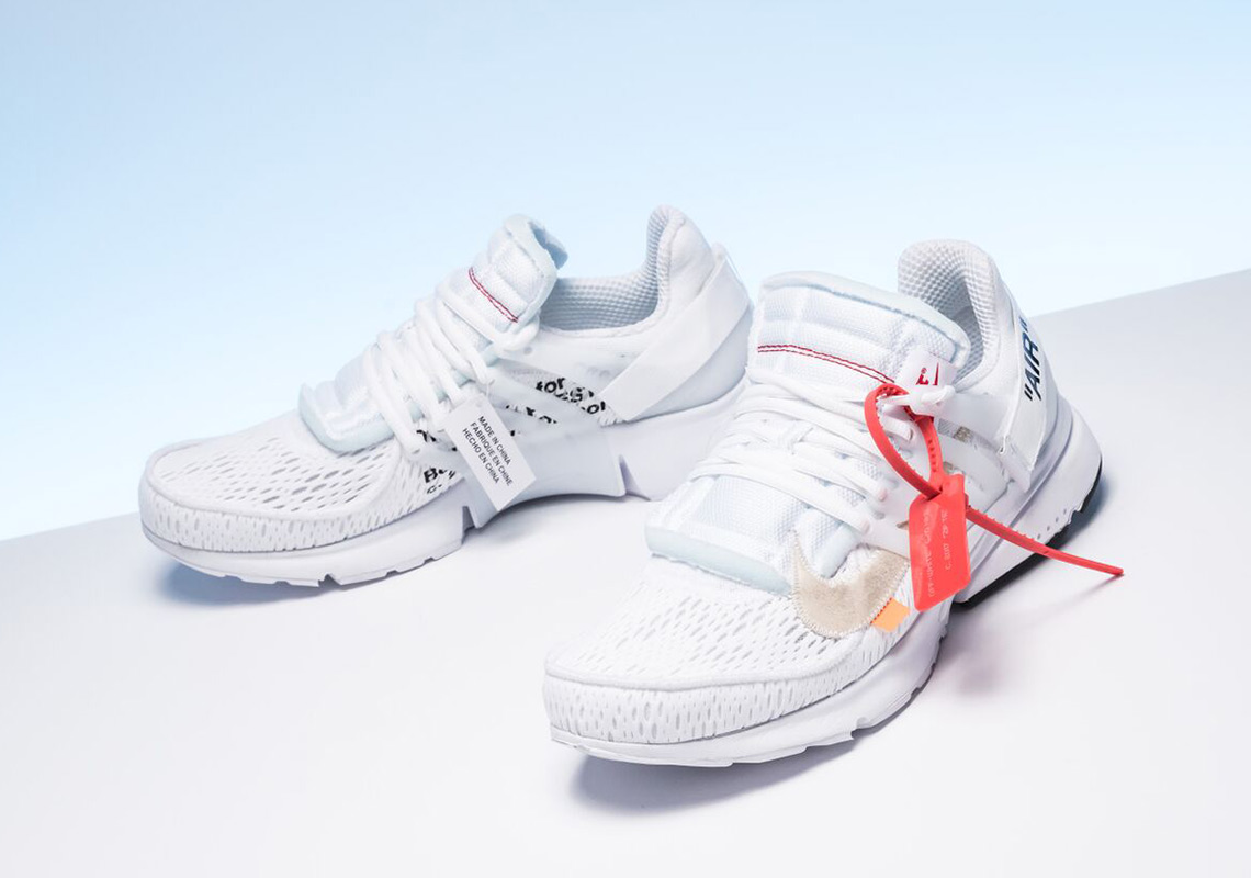 separation shoes 7f4a7 30a05 OFF WHITE x Nike Presto Release Date  August 3rd, 2018. AVAILABLE AT  Stadium Goods Color  White Black Cone Style Code  AA3830-100