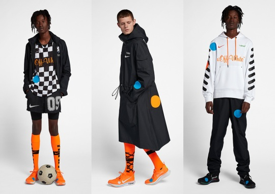 "OFF WHITE x Nike ""Football, Mon Amour"" Apparel Collection Is Available"