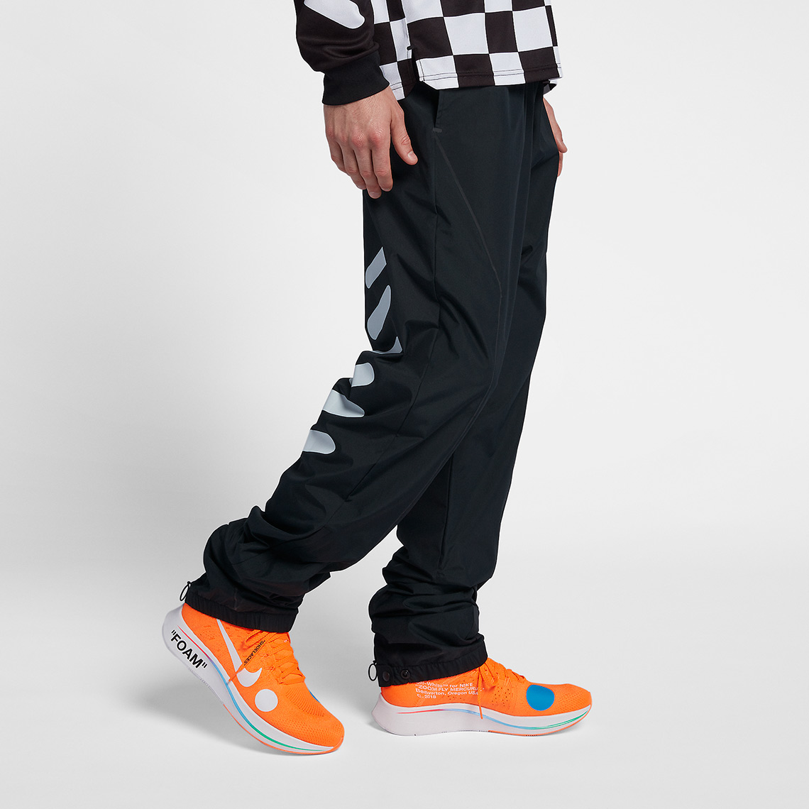b6967f6b Nike x OFF WHITE Track Pants Release Date: June 14, 2018. COMING SOON TO  Nike $220. Color: Black