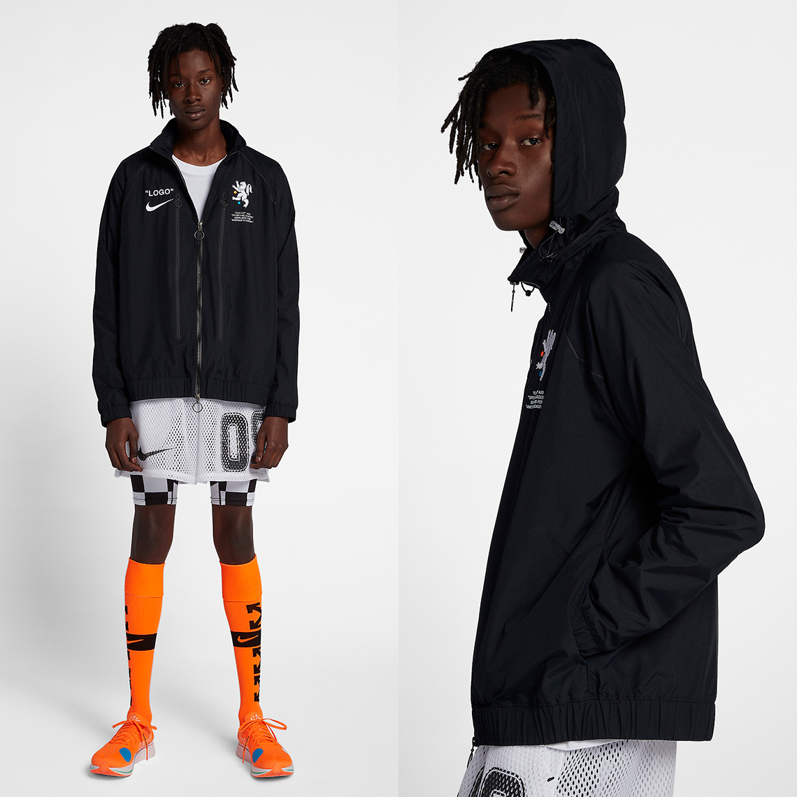 856a60d3 Nike x OFF WHITE Track Jacket Release Date: June 14, 2018. COMING SOON TO  Nike $250. Color: Black