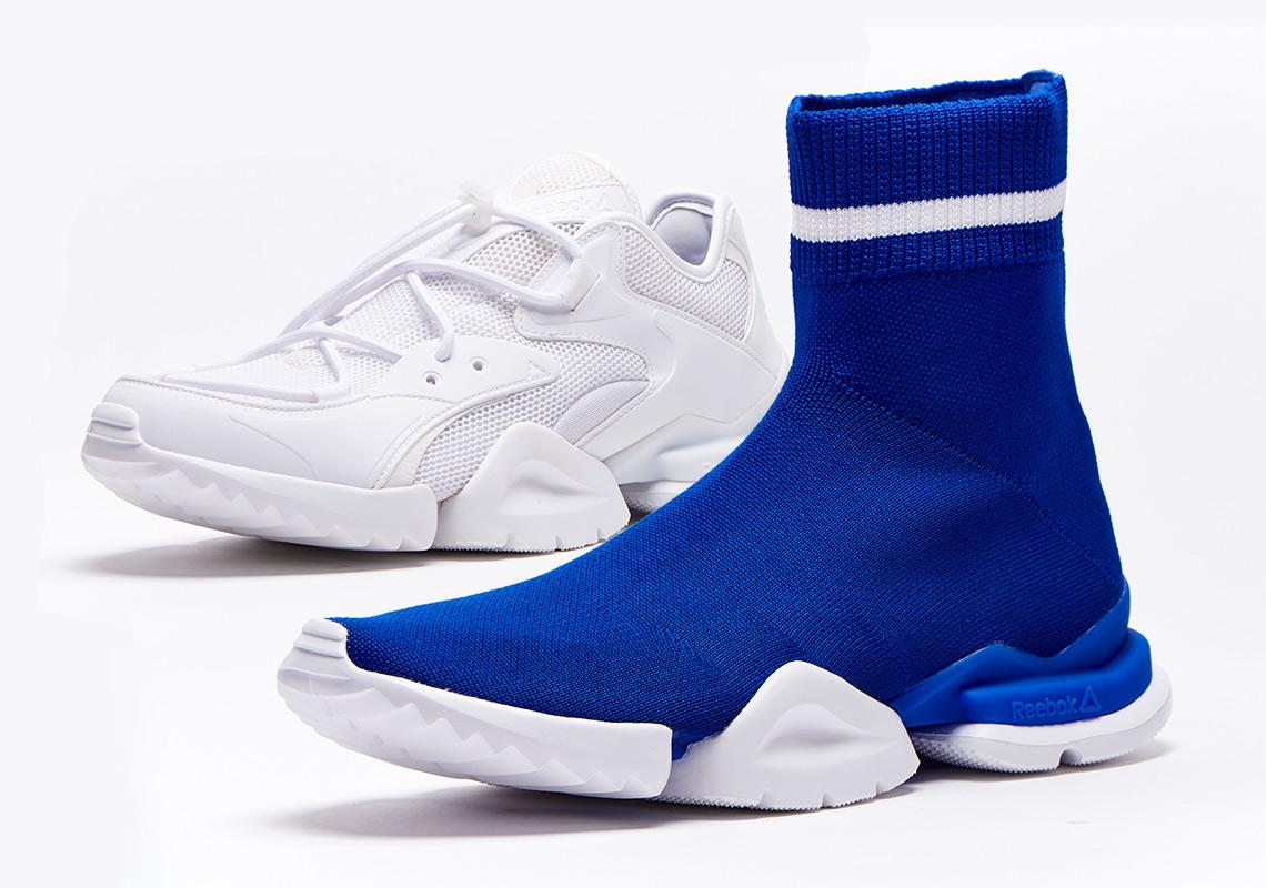02a6e5ced85d Reebok Sock Runner Blue + Runner 96 Release Info