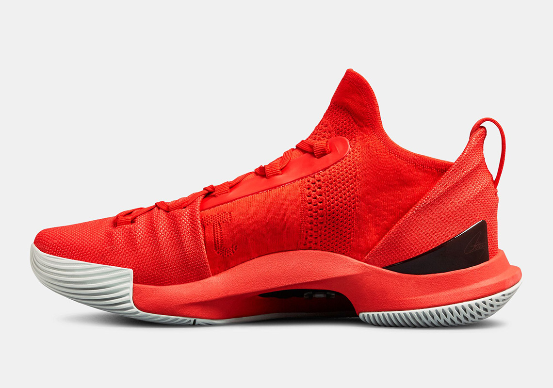907c3184b1ae UA Curry 5 Fired Up Red Release Info
