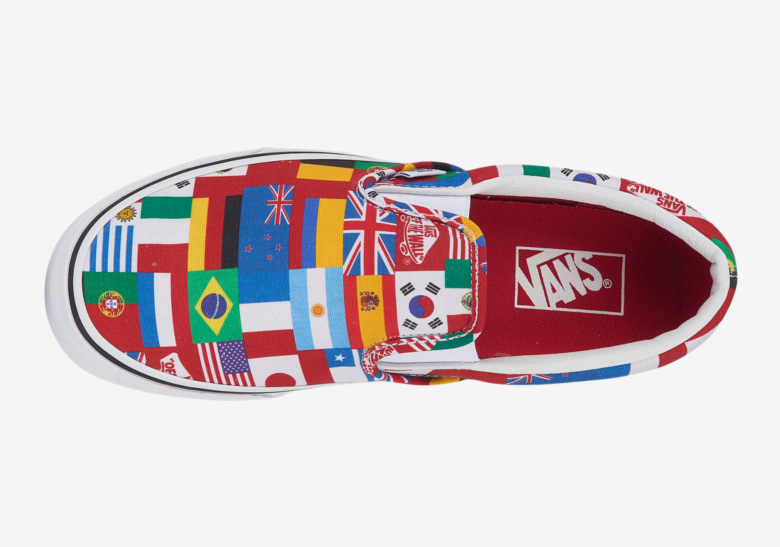 """68a84e9f7a8af8 Vans Releases An """"International Flag"""" Slip-On For The World Cup"""