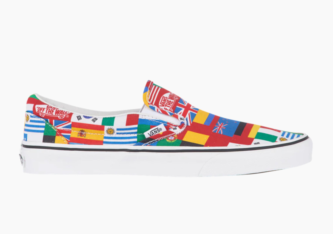 1f2be0f123 Vans Slip-On AVAILABLE AT Footaction  60. Color  Multi Flags True White